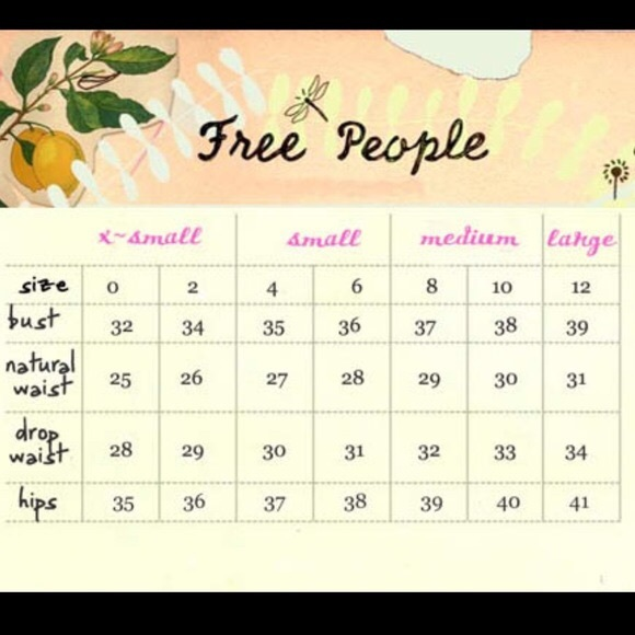 Free People Accessories - Free People Size Chart